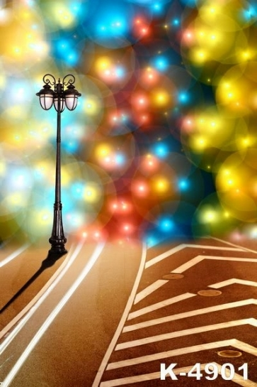 Splendid Lighting Street Lamp Scenic Backdrops Vinyl Photography Backdrops