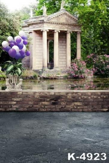 Palace Pool Balloons Building Scenic Backdrops Vinyl Photography Backdrops