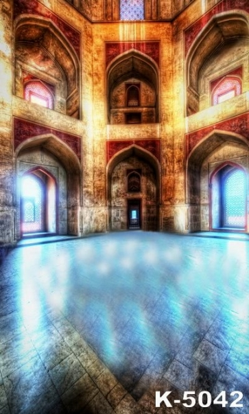 Inside Ancient Palace Building Vinyl Photographic Backdrops