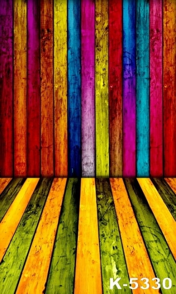 Vinyl Multicolor Wooden Wall Floor Custom Background Party Backdrops