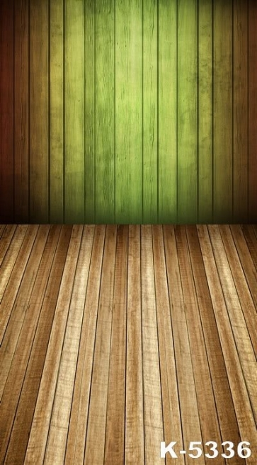 Light Green Wooden Wall Vinyl Custom Photography Backdrops