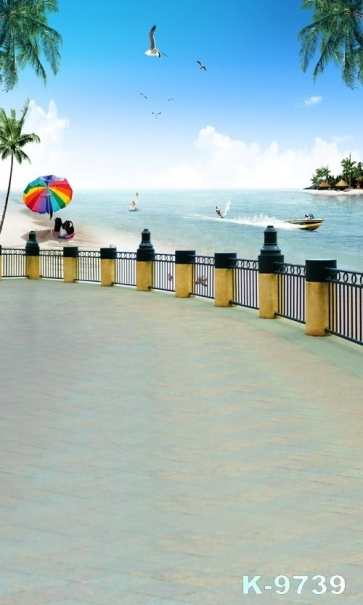 Summer Vacation Seaside Beach Photography Photo Backdrops