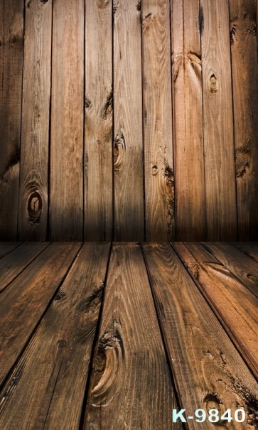 Classic Color Wooden Wall Floor Custom Vinyl Photography Backdrops