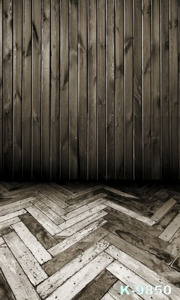 Wavy Shape Wooden Floor Vertical Wall Vinyl Photography Custom Backdrops