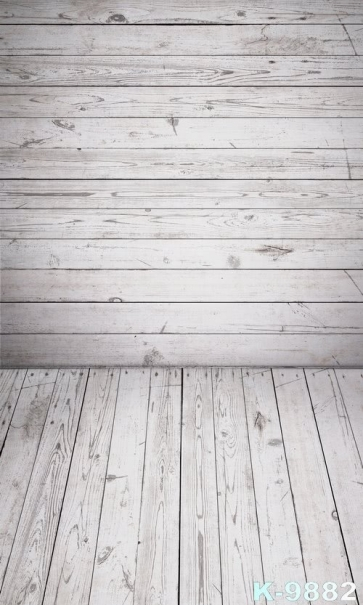 White Wooden Floor Wall Photography Background Vinyl Wood Backdrop