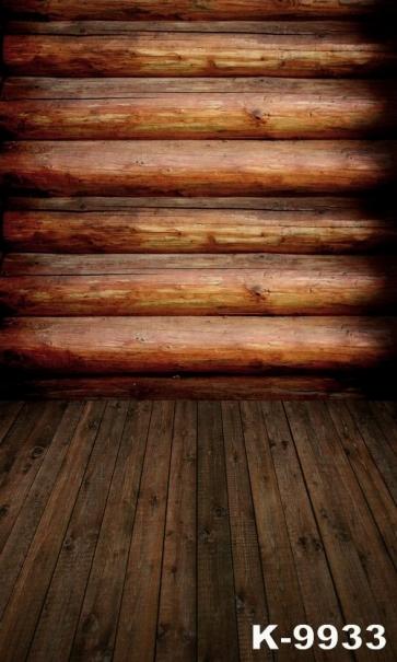 Horizontal Round Wood Wall Vertical Floor Vinyl Wood Studio Backdrop