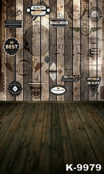 Various Tags Wooden Floor Wall Photography Background Stage Backdrop