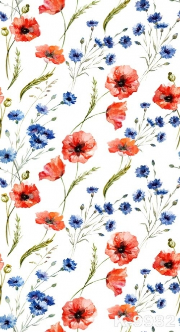Red Blue Flowers White Background Photography Studio Vinyl Backdrops