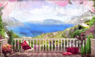 Beautiful Balcony Large Stage Theatreworld Scenic Backdrops