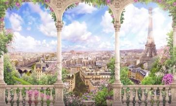 Dreamy Roman Column City Landscape Scenic Large Studio Theatreworld Backdrops