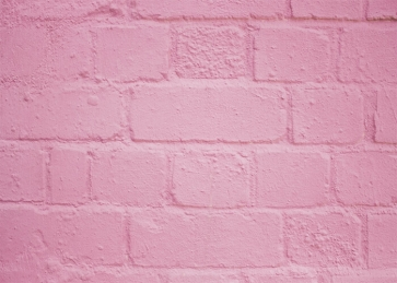 Light Pink Retro Brick Wall Background Party Photography Backdrop