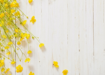 Small Yellow Flowers Vertical Texture Burlywood Photo Prop Background
