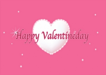 Heart Shape Pink Wall Background Valentine's Day Backdrop