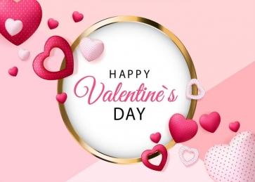 Valentine's Day Backdrop Heart Shape Photography Background