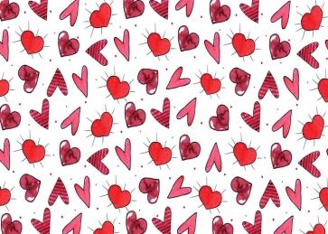 Lovely Heart Shape Photography Background Valentine's Day Backdrop