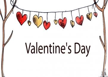 Lovely Sweetheart Heart Shape Banner Valentine's Day Backdrop