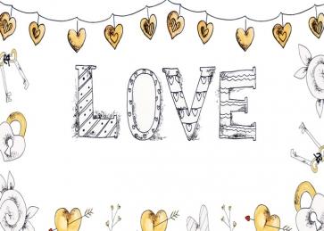 Lovely Sweetheart Heart Shape Banner Love Background Valentine's Day Backdrop