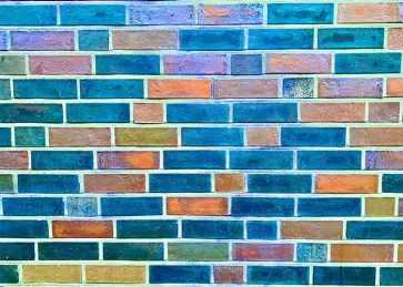 Retro Colorful Brick Wall Background Studio Photography Backdrop