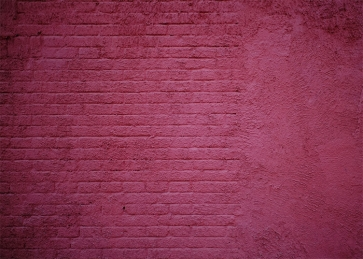Rose Red Retro Brick Wall Backdrop Party Studio Photography Background