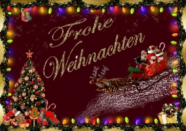 Merry Christmas Frohe Weihnachten in Germany Picture Wall Backdrop