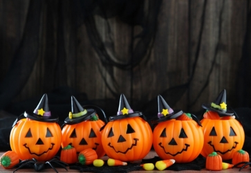 Pumpkin Theme Decorations Halloween Background Party Backdrop
