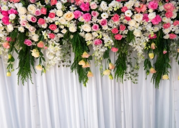Flower Wall Wedding Backdrop Bridal Shower Photography Background