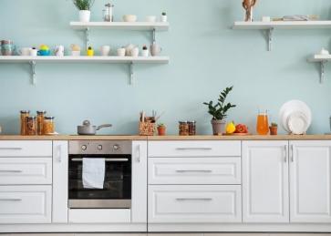 Modern Fake Kitchen Backdrop Photography Background