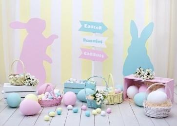 Personalized Bunny Egg Easter Backdrop Party Photography Background