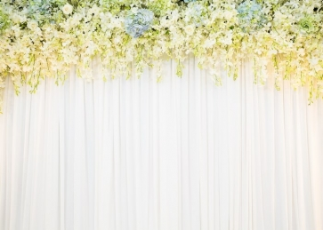 Bridal Shower Wedding Flower Backdrop  Photo Studio Photography Background