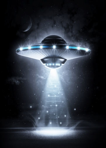 Science Fiction Studio Photography Background Wall Mural UFO Backdrop