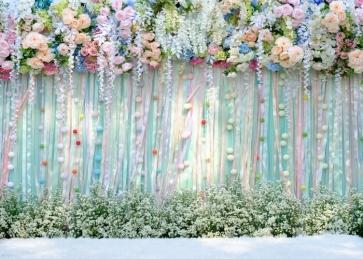Flower Backdrop Wedding Bridal Baby Shower Birthday Party Photo Studio Photography Background