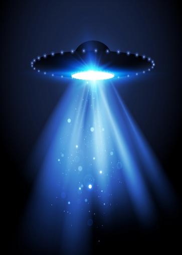 Light In Dark Blue UFO Theme Backdrop Studio Photography Background