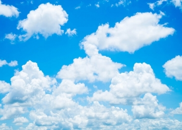 Blue Sky White Clouds Backdrop Photography Background