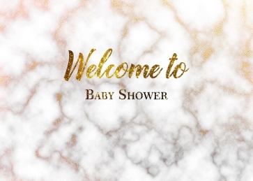 Marble Texture Welcome Baby Shower Backdrop Photography Background