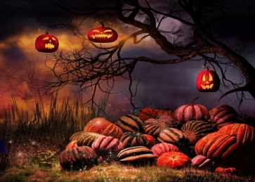 Scary Pumpkin Theme Halloween Party Backdrop Decoration Prop Background