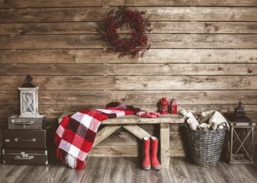 Simple Wood Floor Wall Christmas Backdrop Photo Booths Studio Photography Background