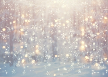 Glitter Bokeh Snowflake Backdrop Christmas Party Stage Background