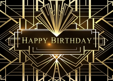 Great Gatsby 1920s Personalized Happy Birthday Party Backdrop