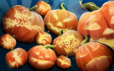 Pumpkin Theme Banner Background Halloween Party Backdrop Decorations