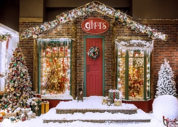 Gifts Store Christmas Backdrop For Stage Background Decoration