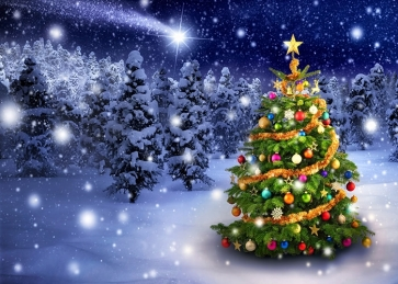 Luxury Christmas Tree Background Christmas Party Backdrops