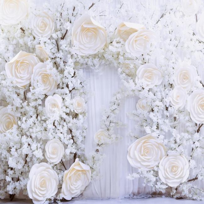 White flower wall backdrop wedding custom background mightylinksfo