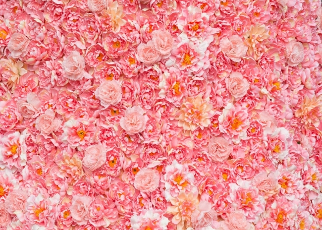 Wedding Party Pink Flower Wall Backdrop Bridal Shower Photography Background
