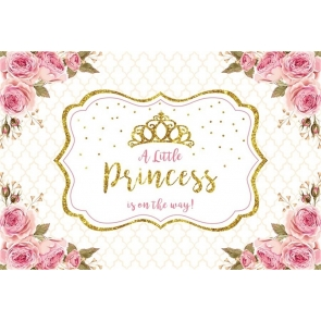 A Little Princess Is On The Way Baby Shower Backdrop Birthday Photography Background