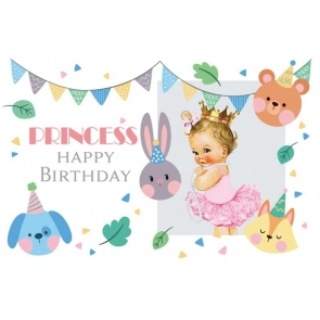 Baby Girl Princess Happy Birthday Backdrop Photography Background