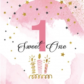 Baby Girl Sweet One 1st Birthday Backdrop Photography Background