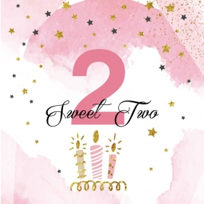 Baby Girl Sweet 2nd Birthday Backdrop Photography Background