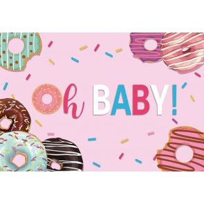 Sweet Donut Birthday Party Backdrop Newborn Baby Shower Photography Background