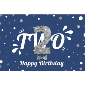 Baby Two 2nd Happy Birthday Backdrop Photography Background