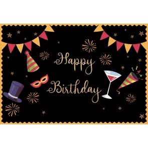 Banner Theme Happy Birthday Backdrop Party Photography Background Decorations Props